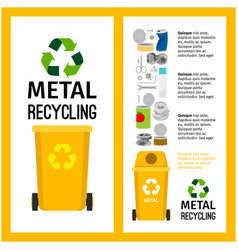 garbage yellow container with metal vector image