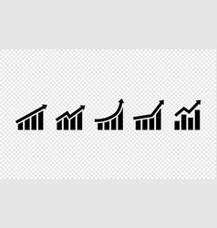 growing grap icon set business growth success vector image
