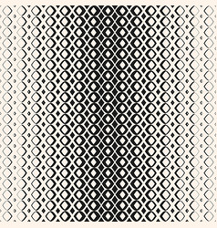 Halftone geometric seamless pattern with diamond vector