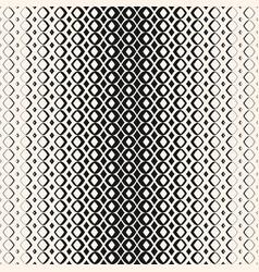 Halftone geometric seamless pattern with diamond vector