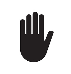 Hand sign stop vector