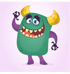 Happy cute cartoon cute monster vector