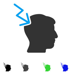 Head electric strike flat icon vector