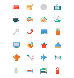 Hotel and Restaurant Colored Icons 1 vector