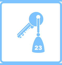 Hotel room key icon vector