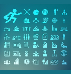 Human resource icons Retina set vector image