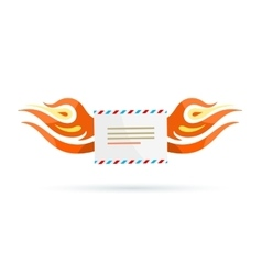 Icon Delivery Envelope Fire Design Flat vector