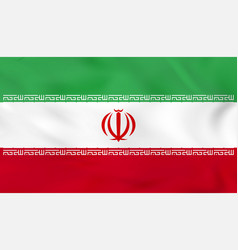 Iran waving flag vector