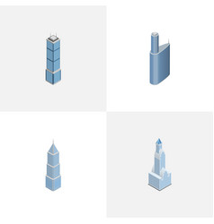 isometric construction set of cityscape building vector image