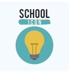 Light bulb of school inside circle design vector