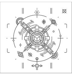 Linear geometrical space design Modern cosmic vector
