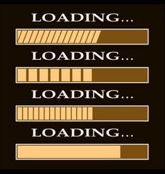loading bar indicators vector image