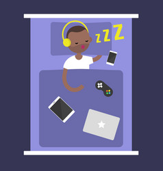 new technologies addiction young black man vector image