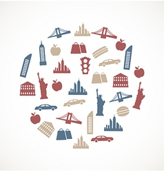 New York symbols vector