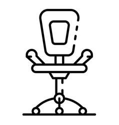 office desk chair icon outline style vector image