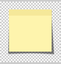 Office yellow paper sticky note glued vector