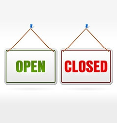 open and closed shop sign vector image