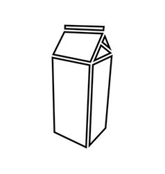 Package for milk black color icon vector