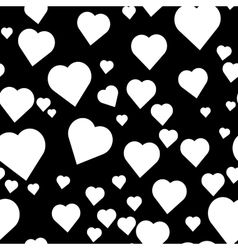 Pattern with hand paint hearts vector