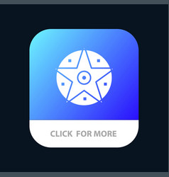 pentacle satanic project star mobile app icon vector image
