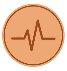 Pulse bronze coin vector