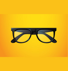 realistic black glasses vector image