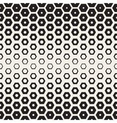 Seamless White And Black Hexagon Halftone vector
