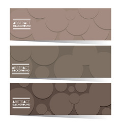 set of three abstract horizontal banners vector image