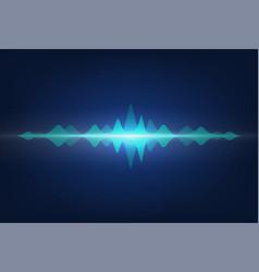 sound waves audio signal amplitude neon wavy vector image