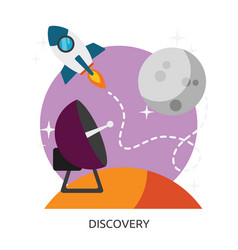 Space discovery image vector