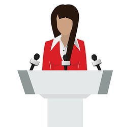 Speaker person vector image