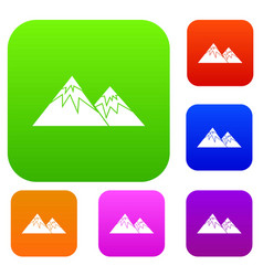 Swiss alps set collection vector