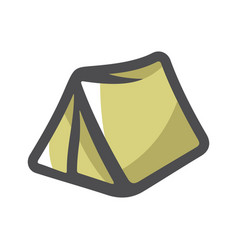 tourist tent for travel and camping icon vector image