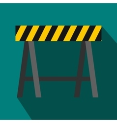 Traffic barrier icon flat style vector image