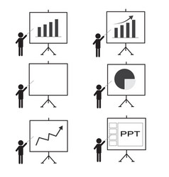 training presentation icon man presenting vector image