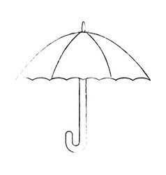 umbrella protection isolated icon vector image