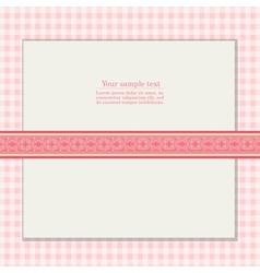 Vintage pink background for invitation card vector image