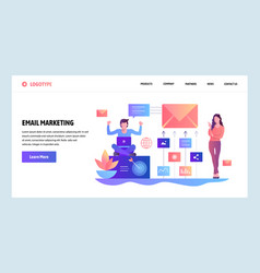 Web site design template digital and email vector