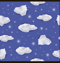 White cloud seamless pattern vector