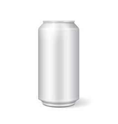 White metal can for soft drinks soda vector