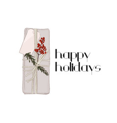 winter holidays gift holiday decoration vector image