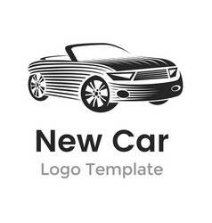 abstract car logo design template modern car vector image