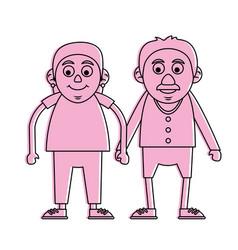 cute elderly people icon image vector image