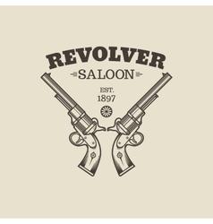 Handgun logo vector image vector image