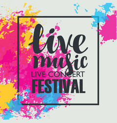 music festival poster with bright abstract spots vector image vector image
