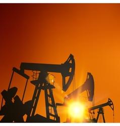 Oil pump industrial machine vector image