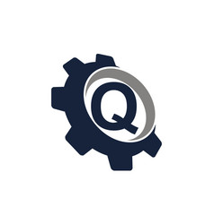 gear icon letter q vector image