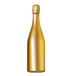 golden champagne bottle vector image vector image