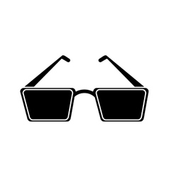Isolated cinema 3d glasses design vector image