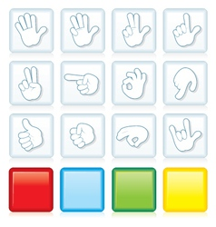 Buttons with Signs vector image vector image